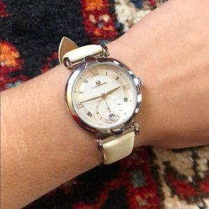 Alexander White Satin Watch